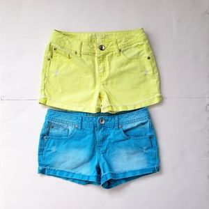 Lot of 2 Girls Justice Shorts Simply Low Distresse